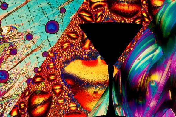 Алкоголь под микроскопом: выглядит довольно красочно
