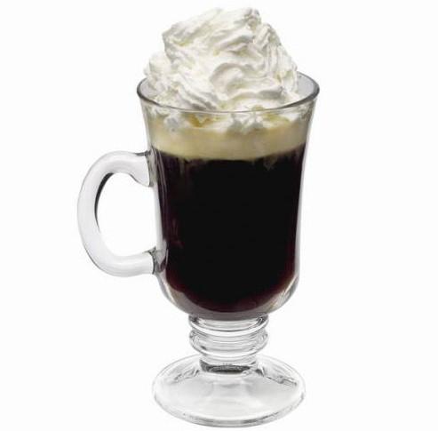 Кофе по ирландски Айриш - рецепт с виски и взбитыми сливками