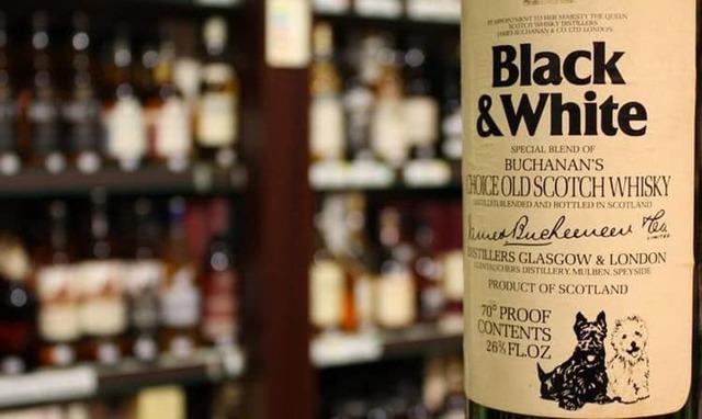 black and white - шотландский виски с отличной репутацией
