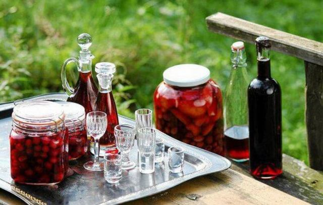 Вишневая настойка на спирту, на самогоне, на водке: лучшие рецепты